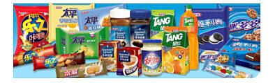 Best Foods, Tang, Oreo's, Ritz cracker, Maxwell House, Kraft cheese